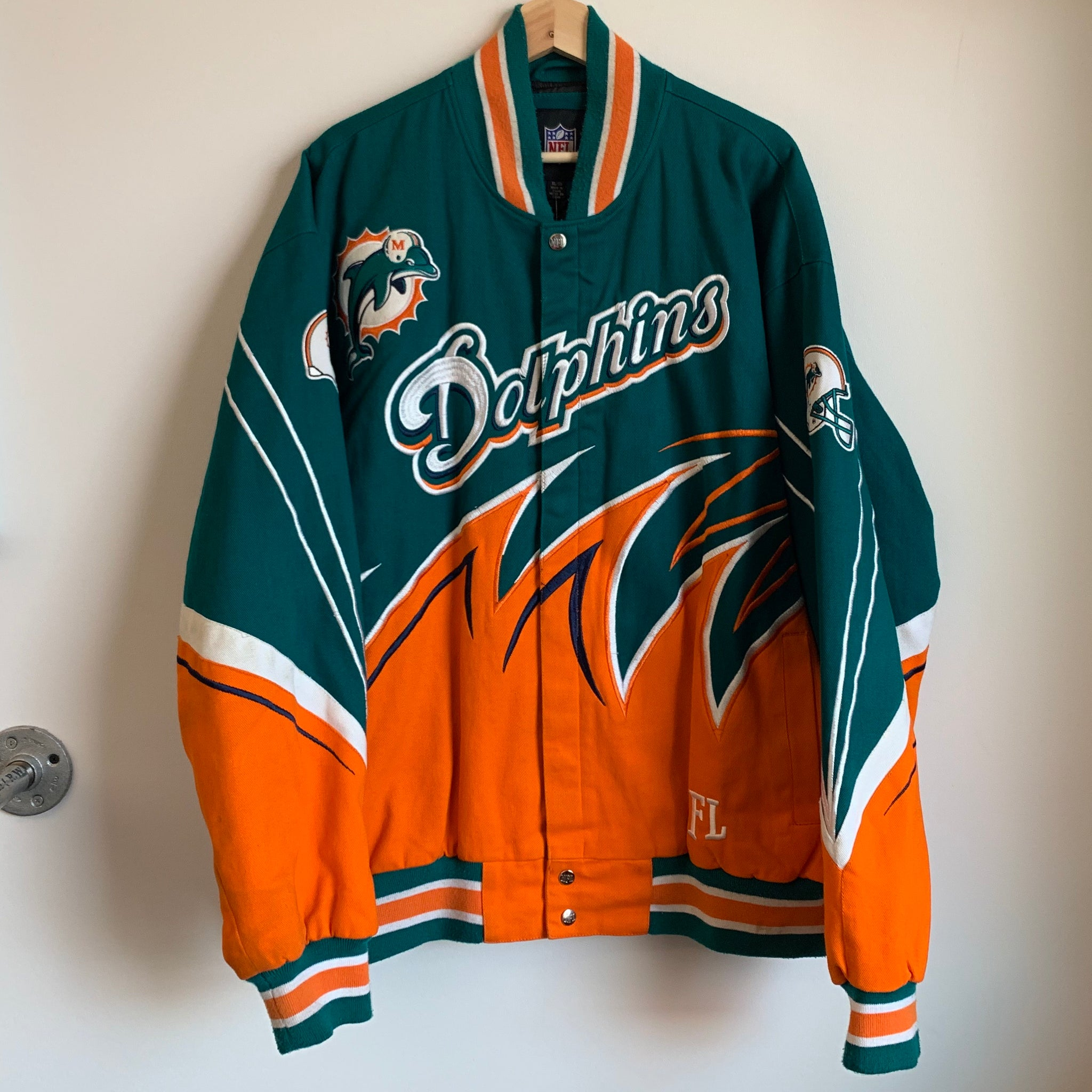 Miami Dolphins Teal / Orange Shark Twill Jacket