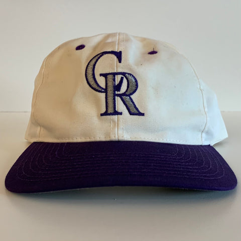 Twins Colorado Rockies White/Purple SnapBack