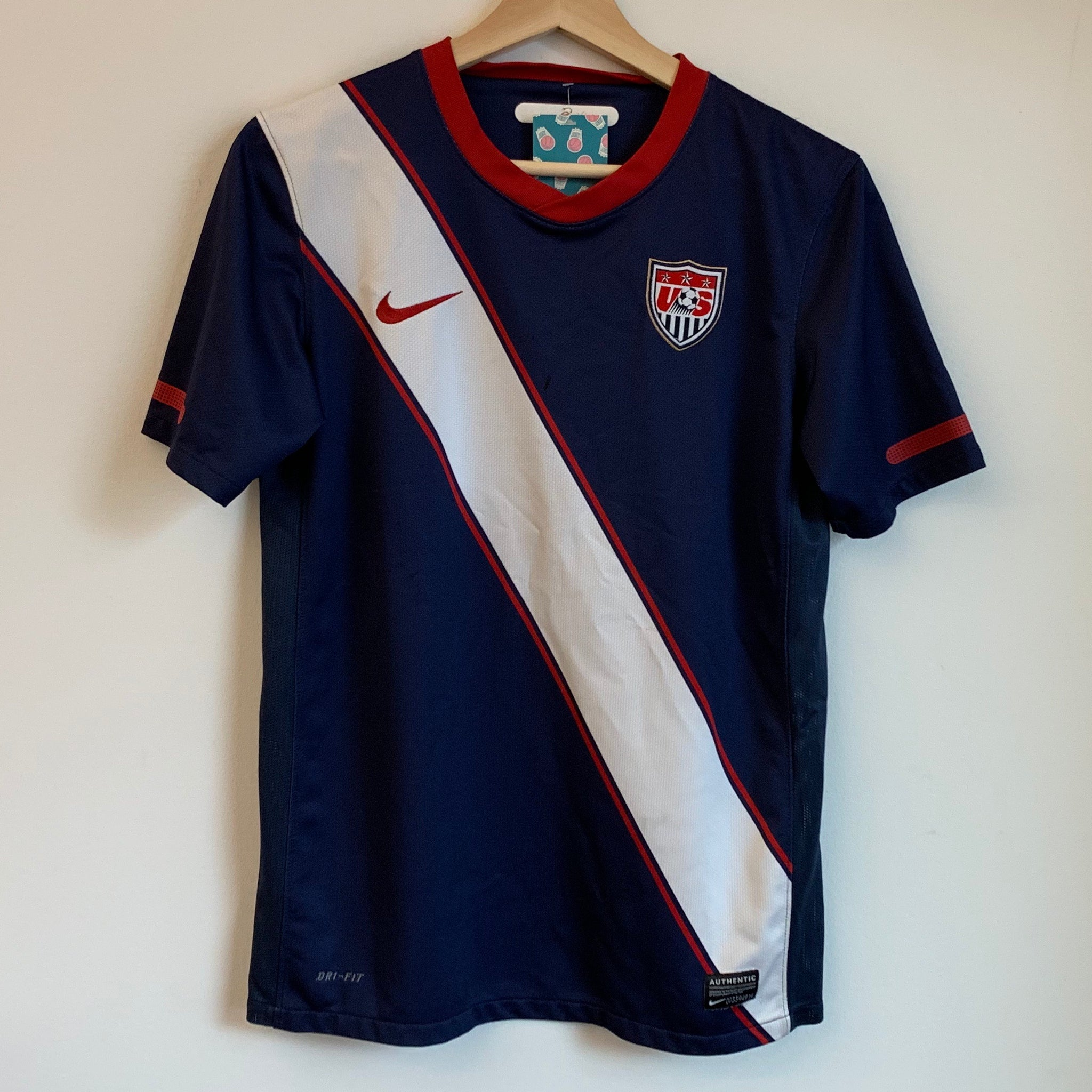 Youth Nike USA Stripe Navy/White Jersey
