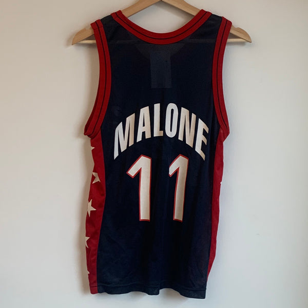 Champion Karl Malone USA Dream Team 2 Navy Basketball Jersey