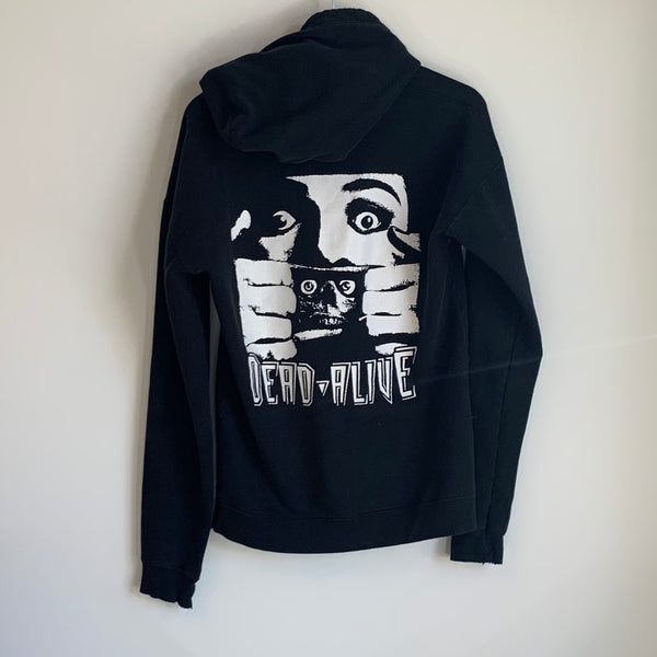 1992 Dead Alive Movie Black Zip-Up Hoodie Sweatshirt