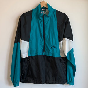 Nike Gray Tag 1/4 Zip Teal/Black/White Windbreaker Jacket