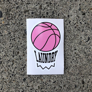 Laundry Hoop Logo Sticker