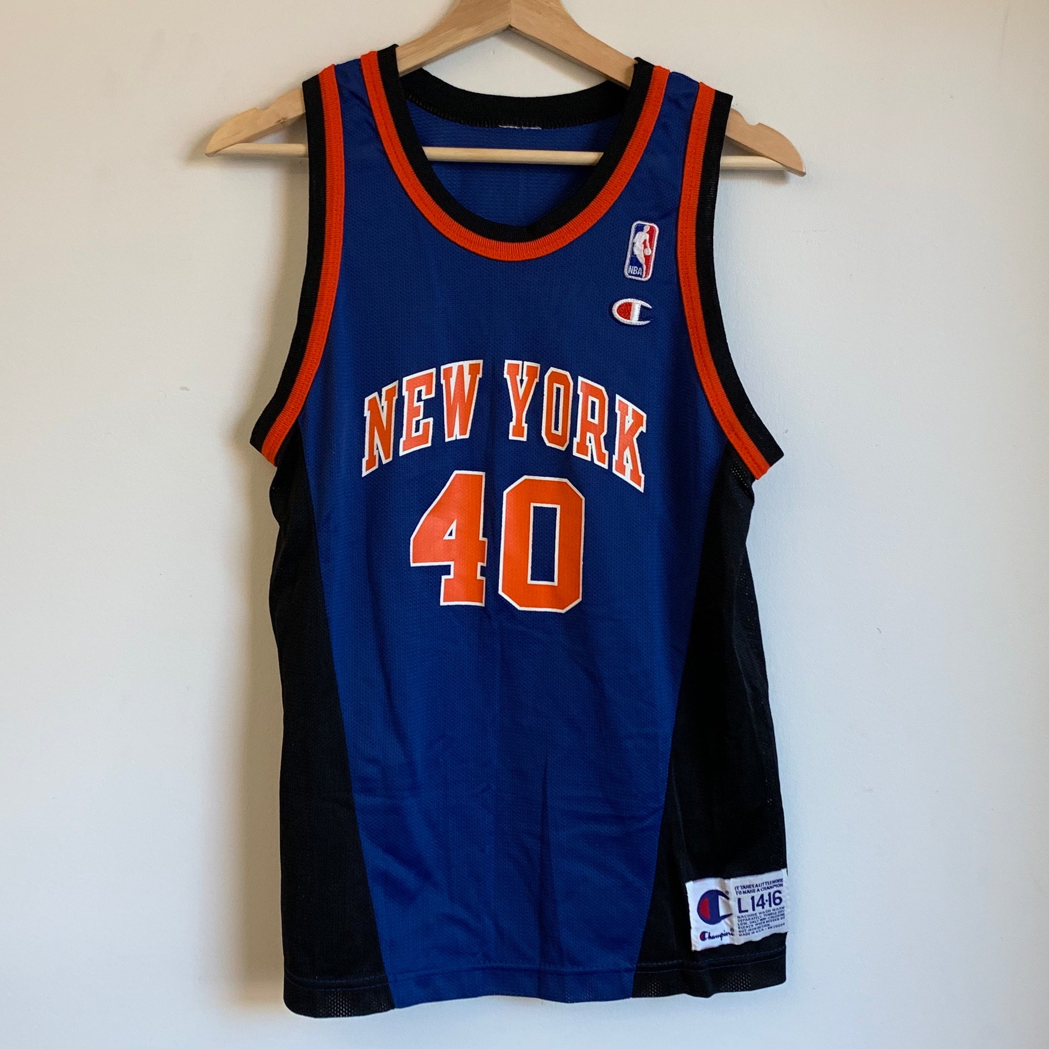 Champion Walter McCarty New York Knicks Blue Youth Basketball Jersey