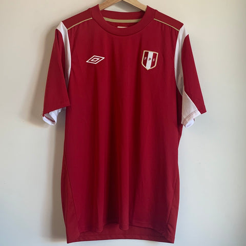Umbro Peru Red Away Soccer Jersey