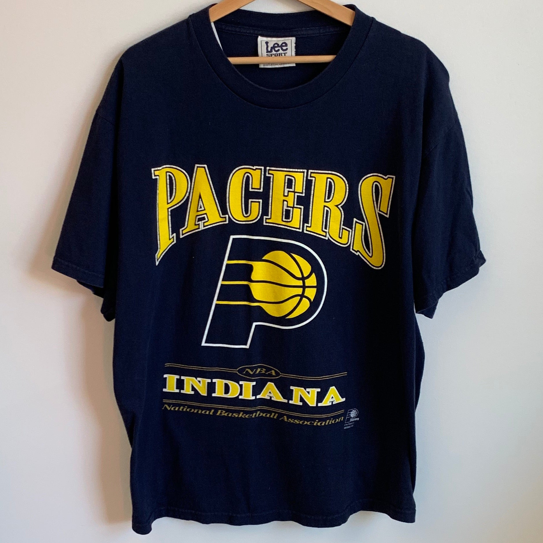 Lee Sport Indiana Pacers Navy Tee Shirt