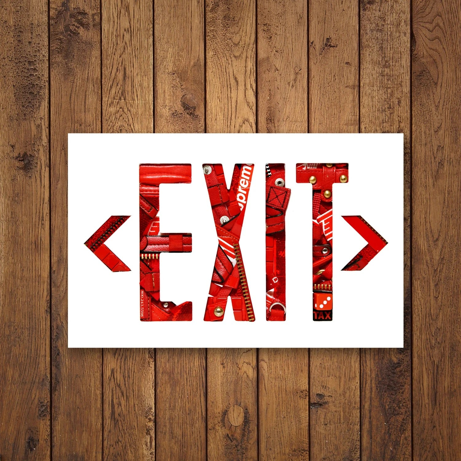 "Eazy Denim ""Exit Sign"" Poster (Red)"