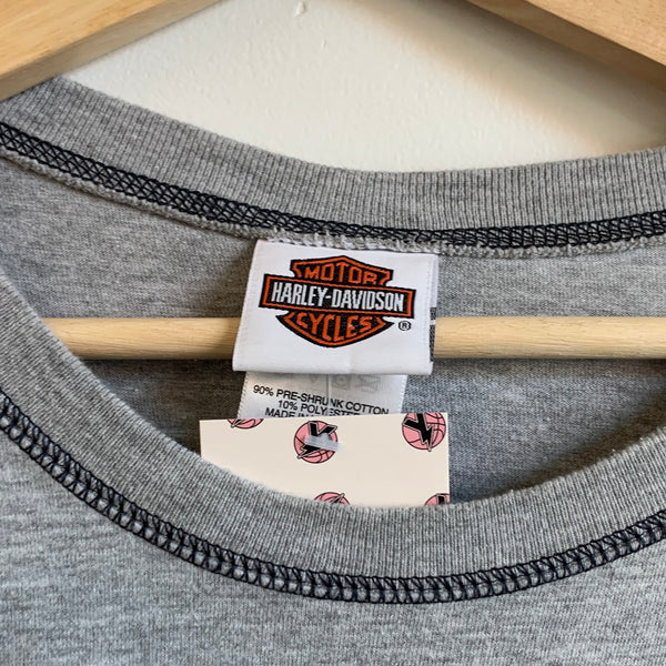 Harley Davidson Vancouver, Washington Gray Long Sleeve Tee Shirt