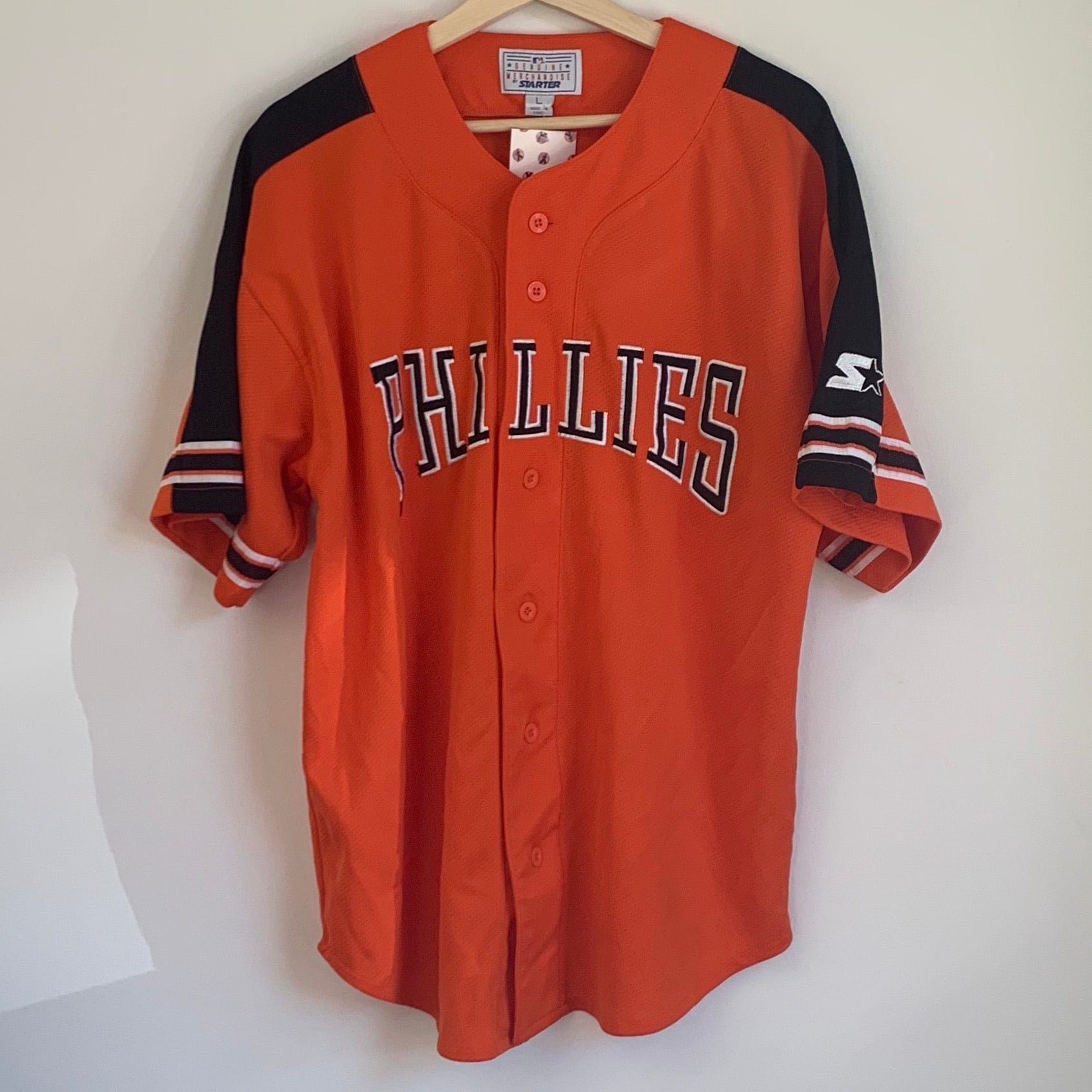 Starter Philadelphia Phillies Orange Baseball Jersey