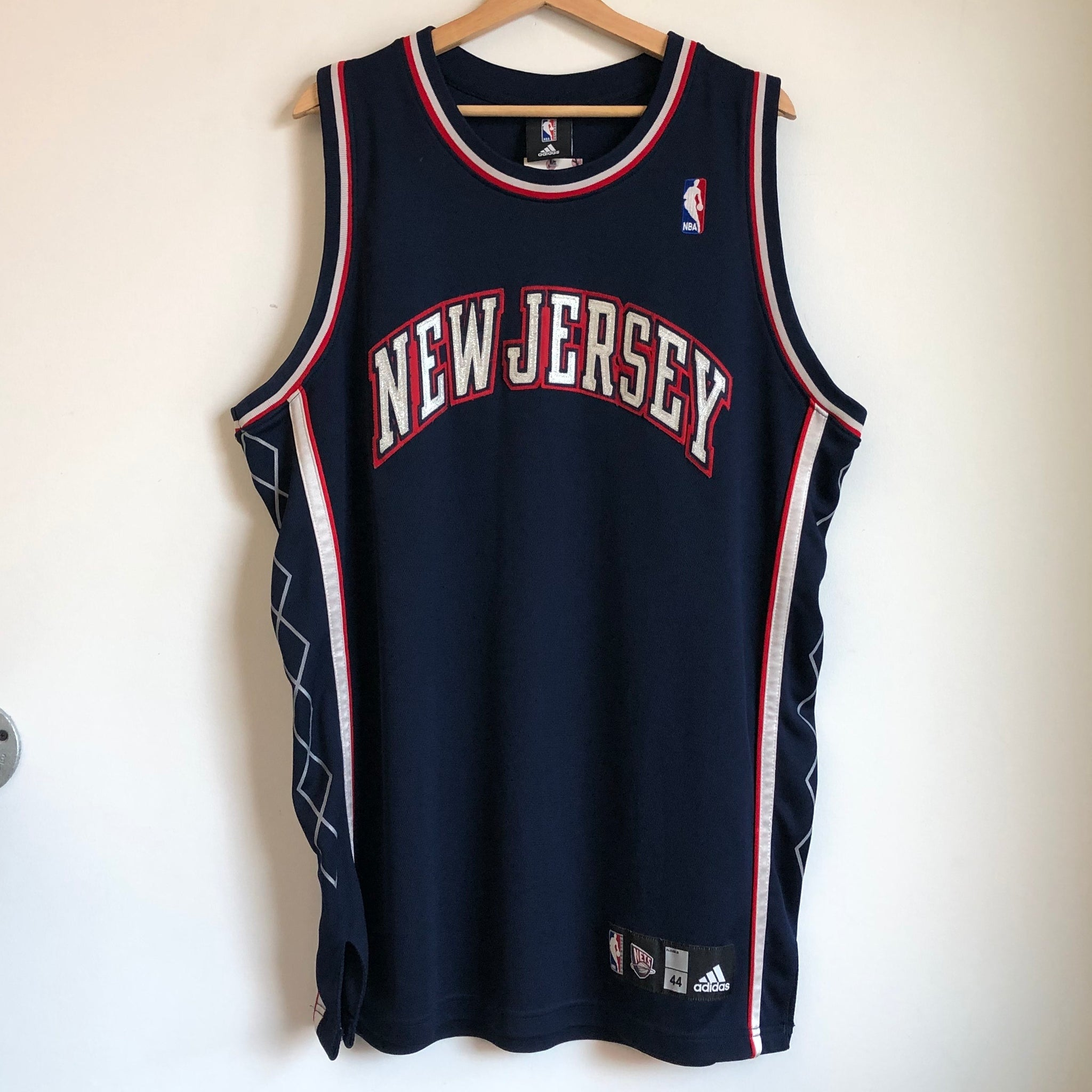 Adidas New Jersey Nets Authentic Navy Blank Basketball Jersey