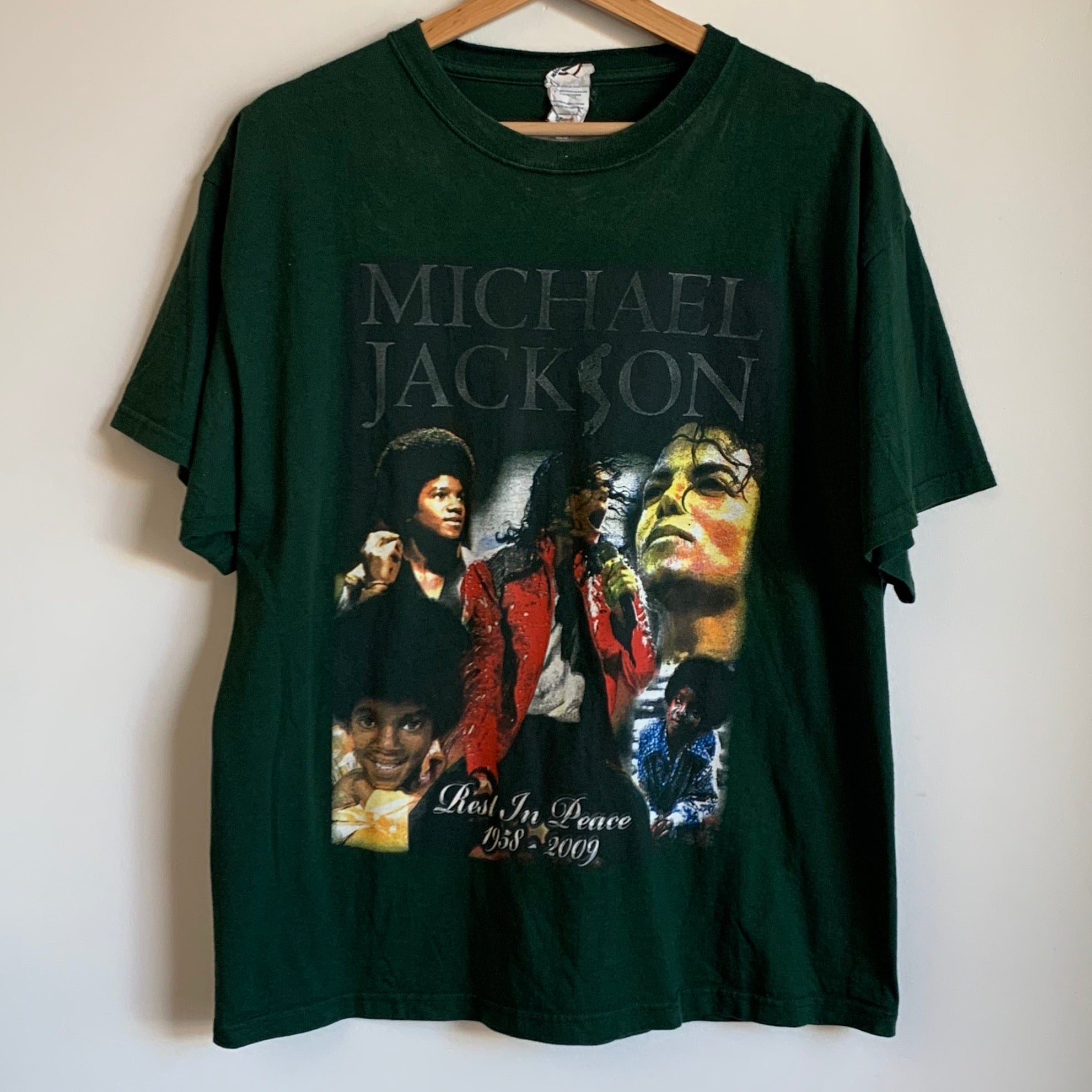 Michael Jackson Rest In Peace Green Tee Shirt