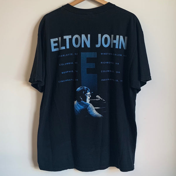 Elton John Black Tour Tee Shirt