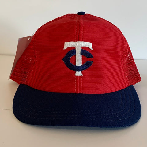 Minnesota Twins Red & Navy Trucker Hat