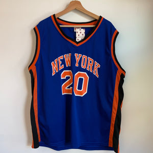 Allan Houston New York Knicks Blue Basketball Jersey