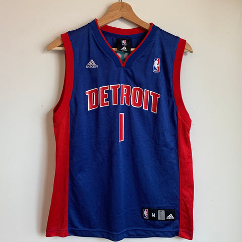 adidas Chauncey Billups Detroit Pistons Blue Youth Swingman Basketball Jersey