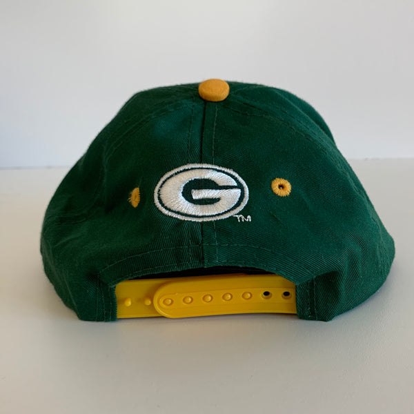 Youth Green Bay Packers Green/Yellow/White Snapback
