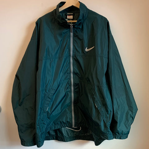Nike Medium Swoosh Green Windbreaker Jacket