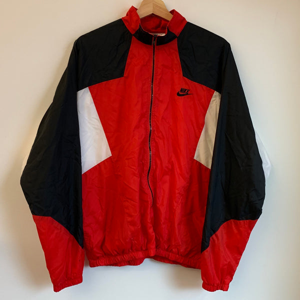 Nike Gray Tag Oregon Select Soccer Red/Black/White Windbreaker Jacket