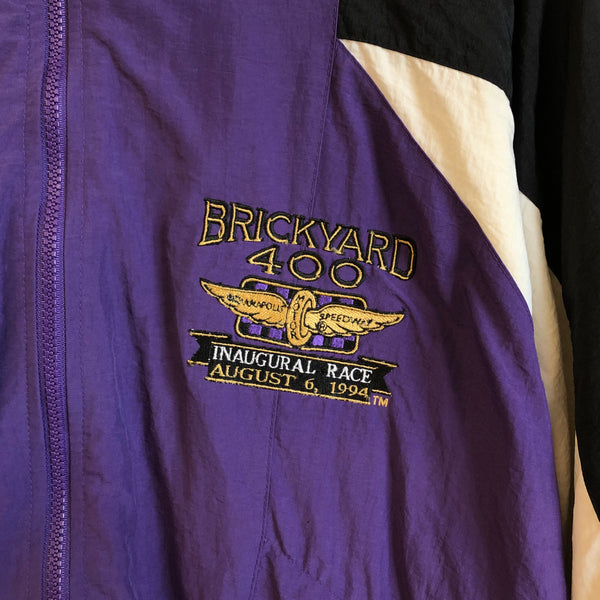 1994 Logo Athletic Brickyard 400 Inaugural Race Purple Windbreaker Track Jacket