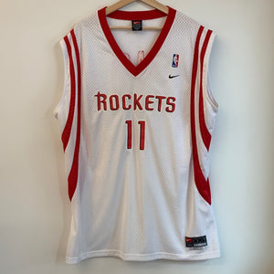 Nike Yao Ming Houston Rockets White Swingman Basketball Jersey