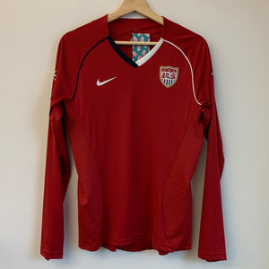 Nike USWNT USA 2007 Red Long Sleeve Women's Soccer Jersey