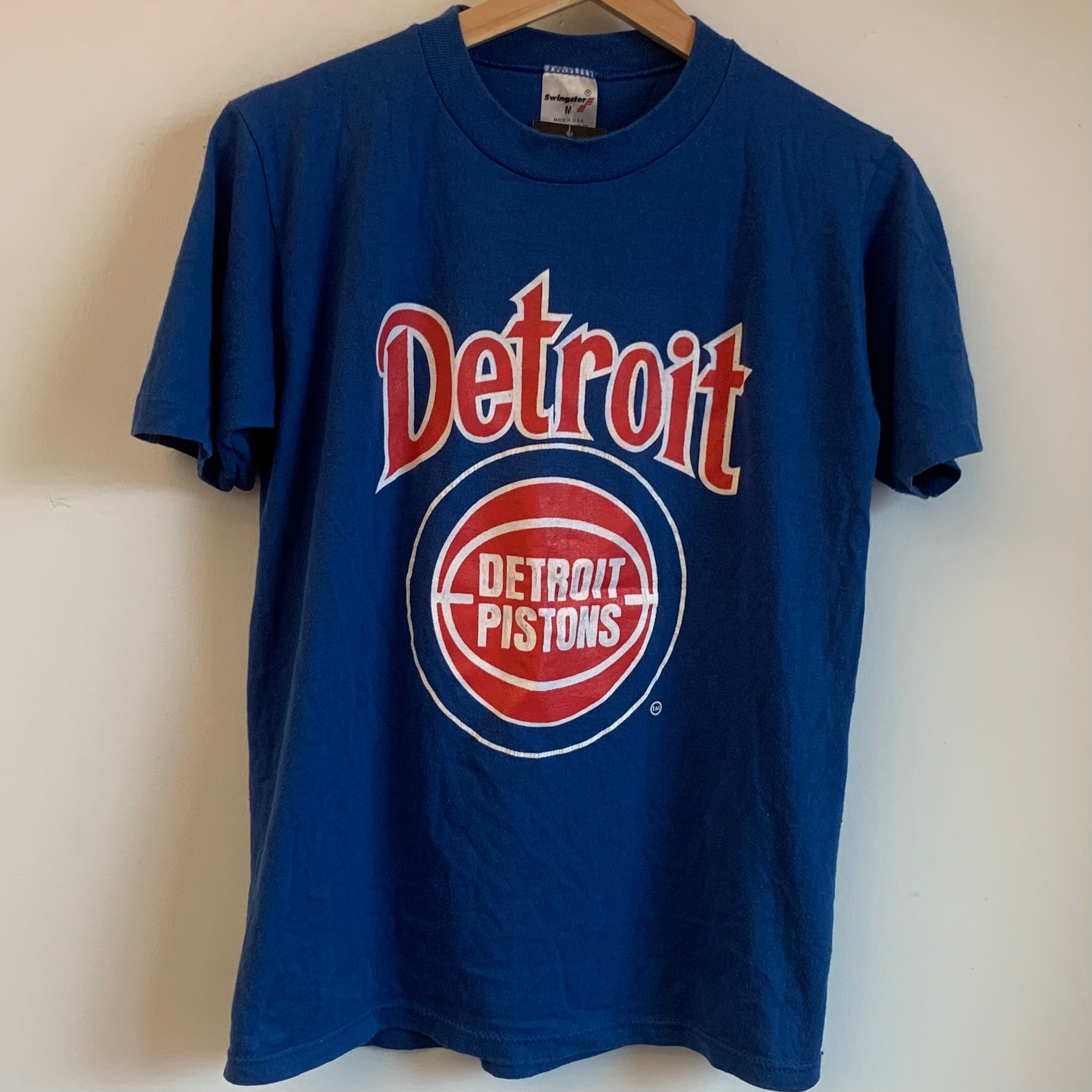 Swingster Detroit Pistons Blue Tee Shirt