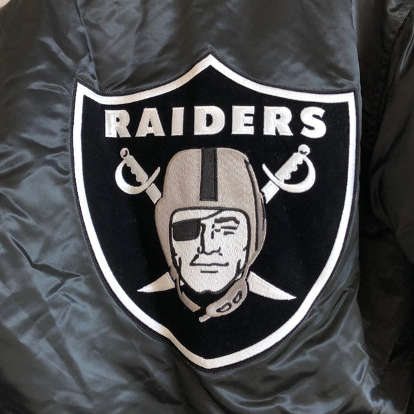 Starter Los Angeles Raiders Big Patch Satin Jacket