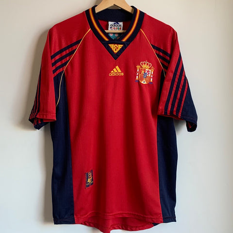 Adidas Spain 1996/98 Red Soccer Jersey