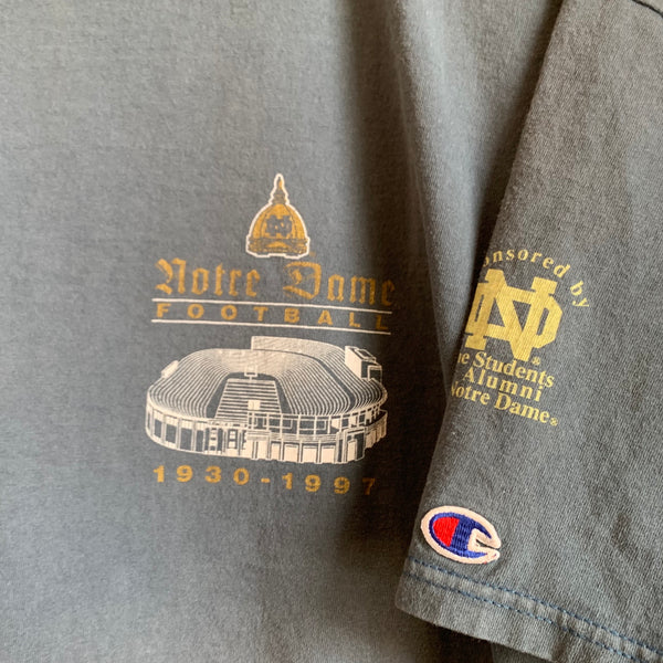 1997 Champion Notre Dame Fighting Irish Football Tee Shirt