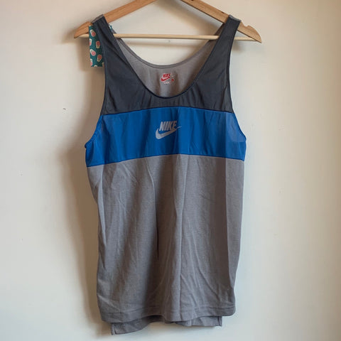 Nike Grey/Blue Split Tank Top