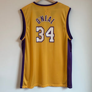 Champion Shaquille O'Neal Los Angeles Lakers Yellow Youth Basketball Jersey