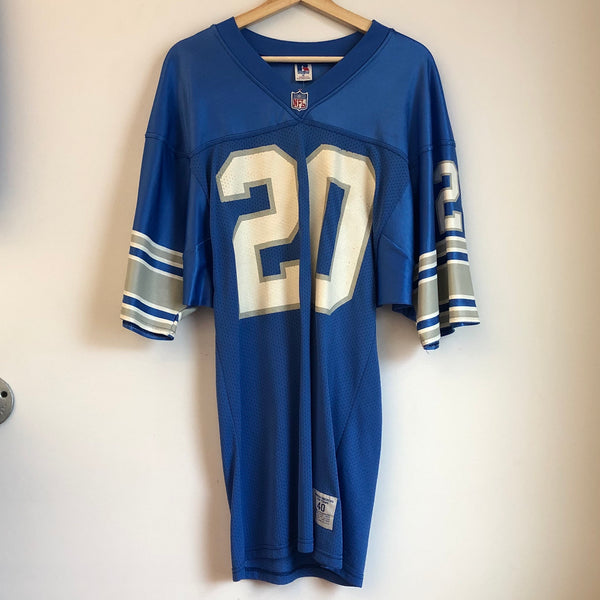 Russell Athletic Barry Sanders Detroit Lions Blue Football Jersey