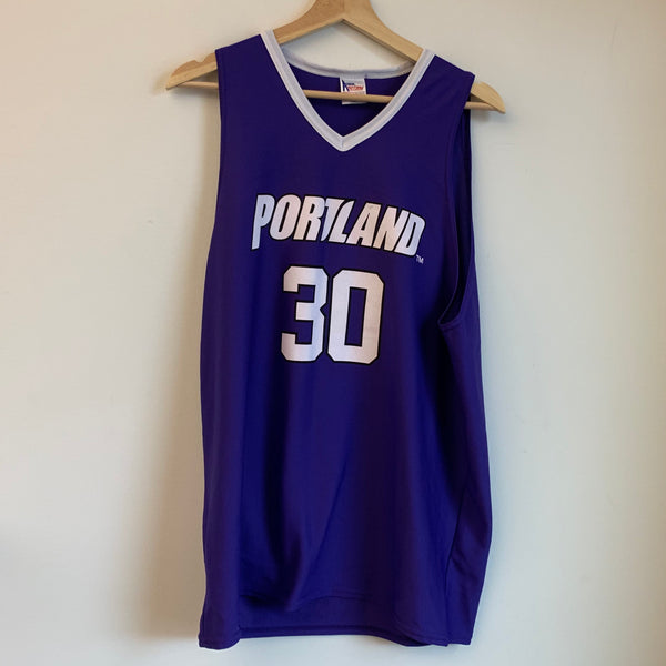 Terry Porter Portland Pilots Purple Basketball Jersey
