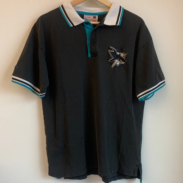 Apex One San Jose Sharks Black Polo Shirt