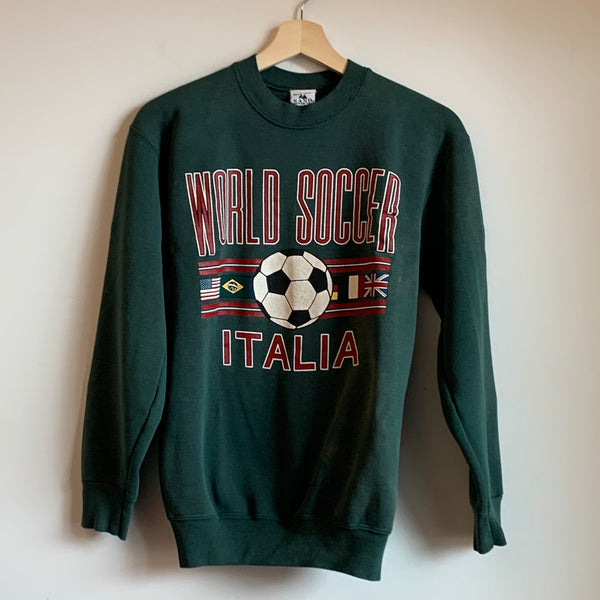 World Soccer Italia Green Youth Crewneck Sweatshirt