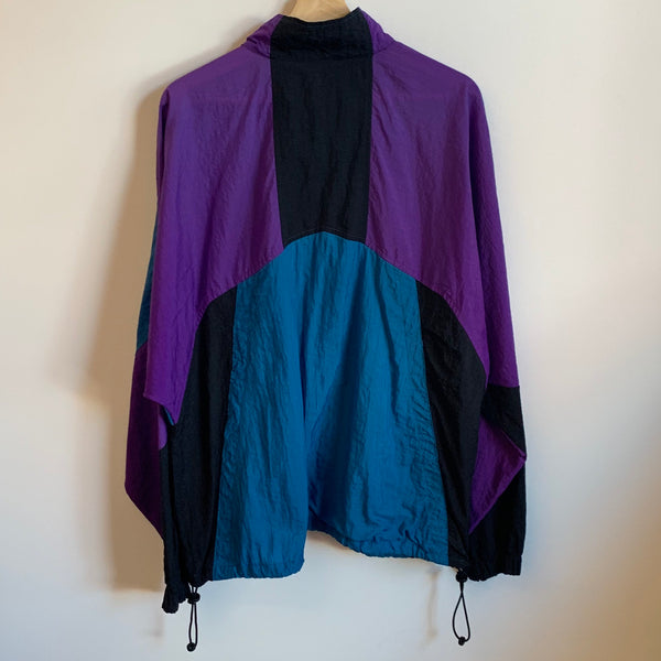 Nike Gray Tag Blue/Purple/Black Windbreaker Jacket