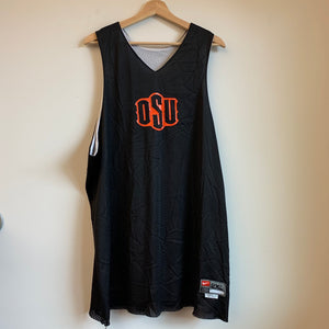 Nike Oklahoma State Cowboys Team-Issued Reversible Basketball Practice Jersey