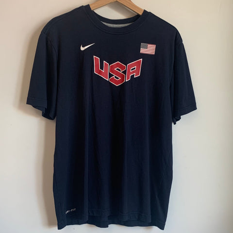 Nike USA Navy Flag Shirt