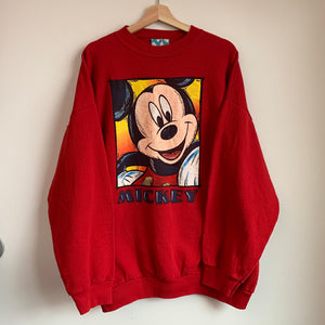 Mickey Mouse Red Crewneck Sweatshirt