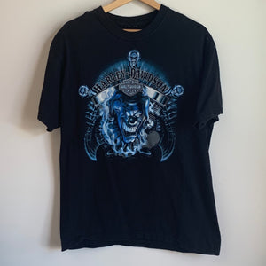 Harley Davidson Pomona Valley Montclair, California Black Tee Shirt