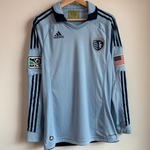 adidas Pro Cut Sporting Kansas City Long Sleeve Soccer Jersey
