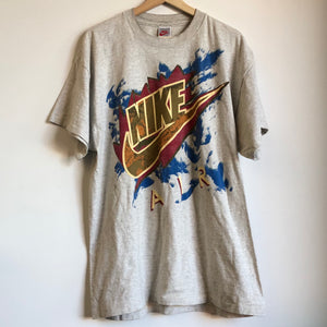 Nike Air Gray Tag Big Logo Tee Shirt