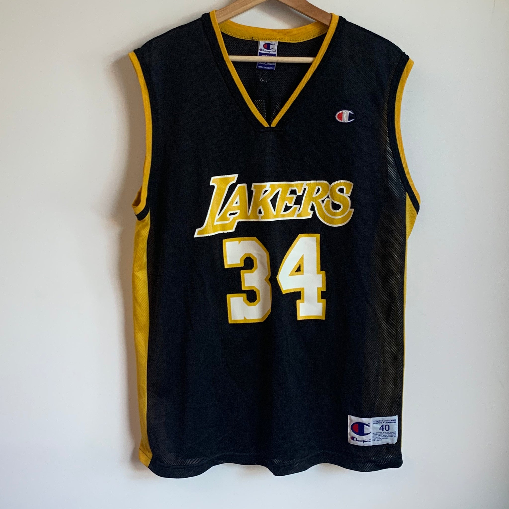 Champion Shaquille O'Neal Los Angeles Lakers Black Basketball Jersey
