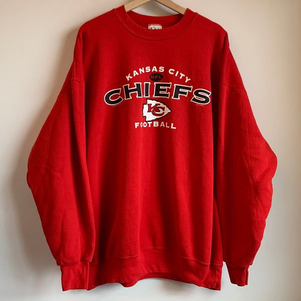 Lee Sport Kansas City Chiefs Red Crewneck Sweatshirt