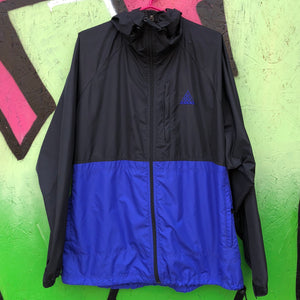 Nike ACG Black/Blue Hooded Windbreaker Jacket