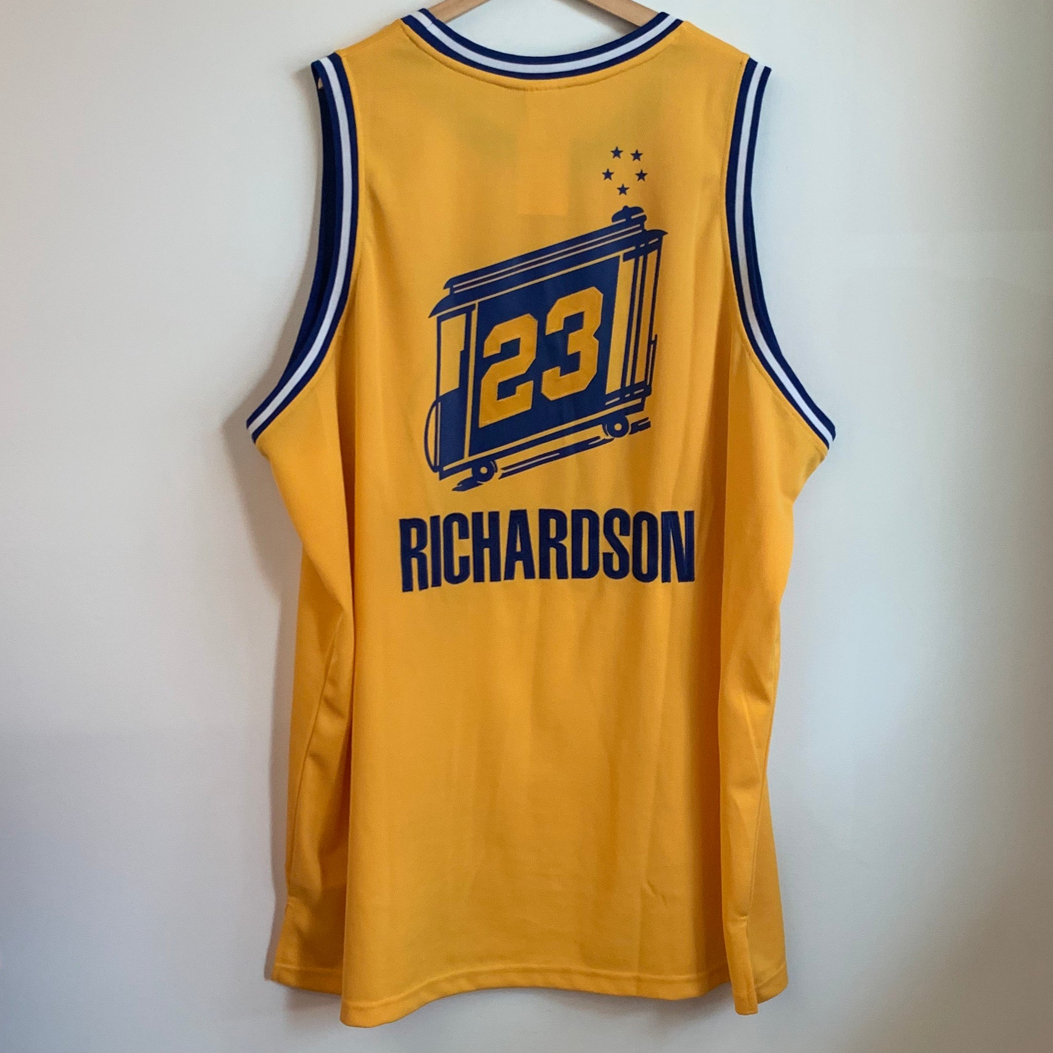 pretty nice eb9dd d1e89 Reebok Jason Richardson Golden State Warriors Authentic Basketball Jersey