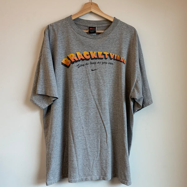 "Nike Bracketville ""Stay As Long As You Can"" Gray Tee Shirt"