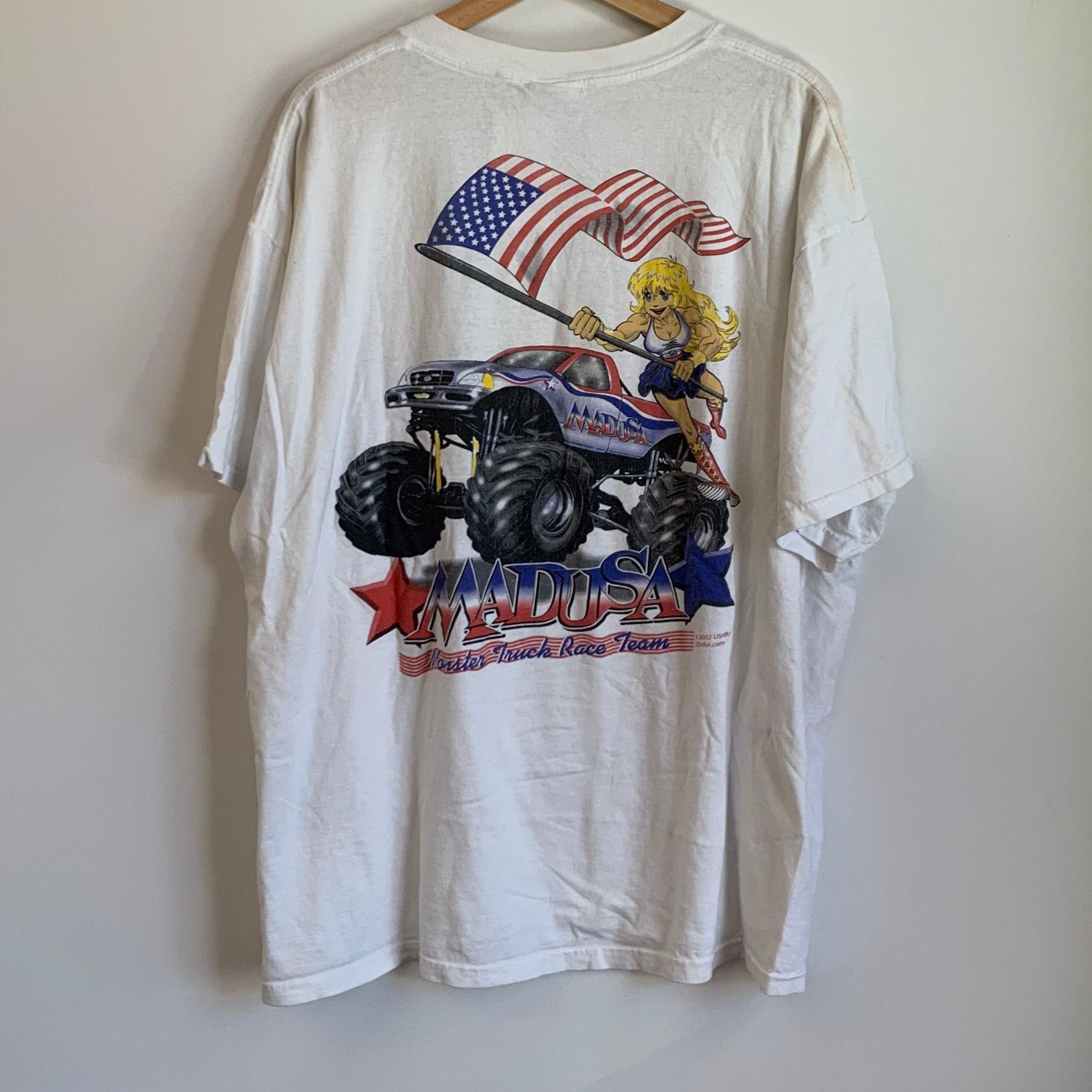 Mad USA Monster Truck Race Team White Tee Shirt