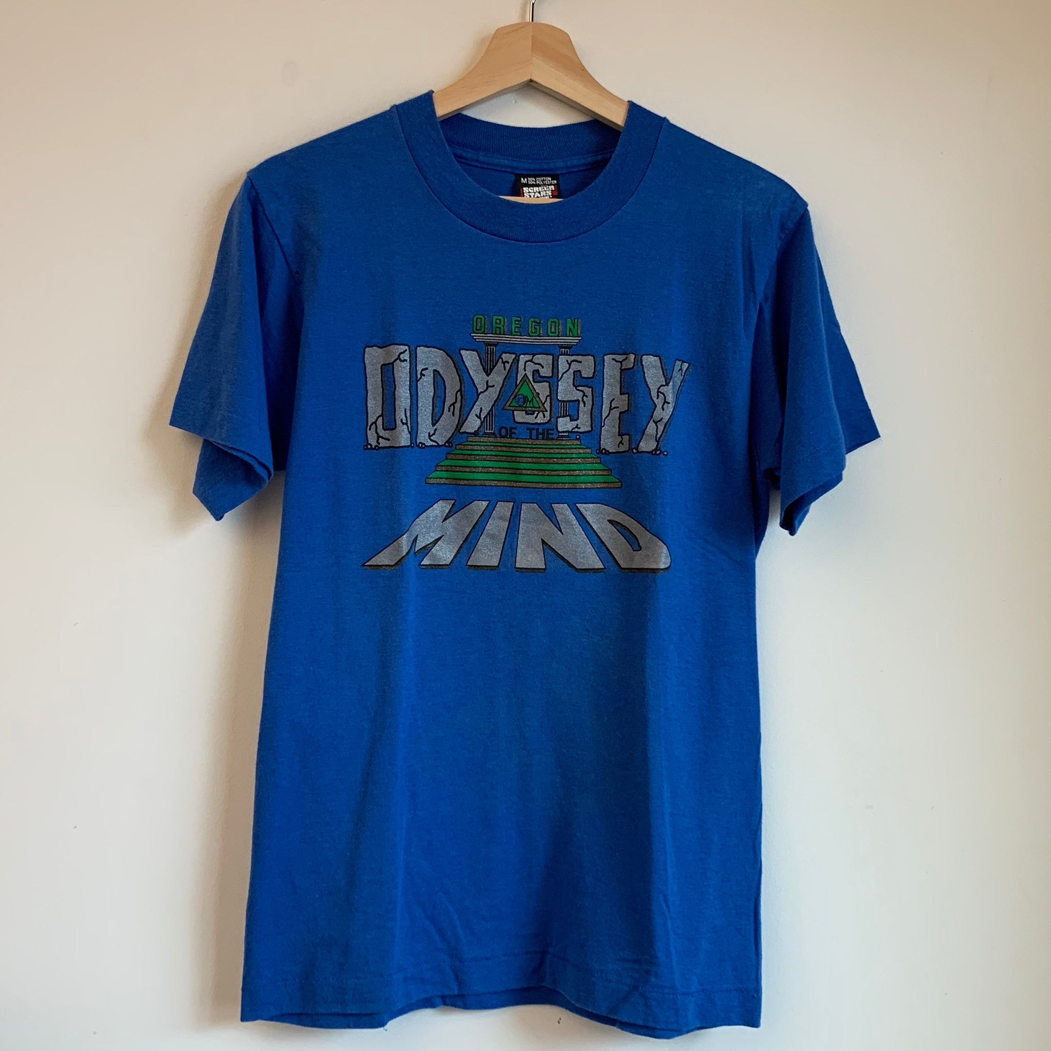 Oregon Odyssey Of The Mind Blue Tee Shirt