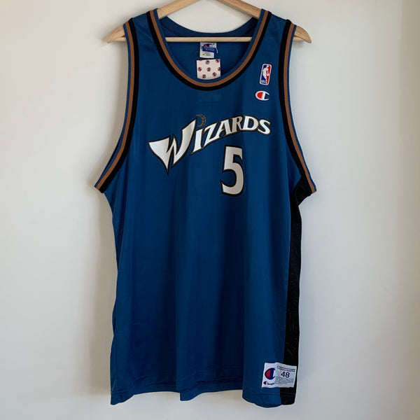 Champion Juwan Howard Washington Wizards Blue Basketball Jersey